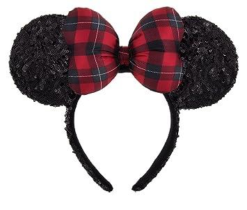 Christmas Minnie Mouse Head.Minnie Mouse Ears Headband With Christmas Plaid Bow