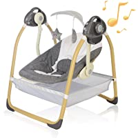 AiBeeYou Baby Swings for Infants, Baby Swing with 6 Motions,Infant Swing with Music,Sounds and Timing Function, Baby…