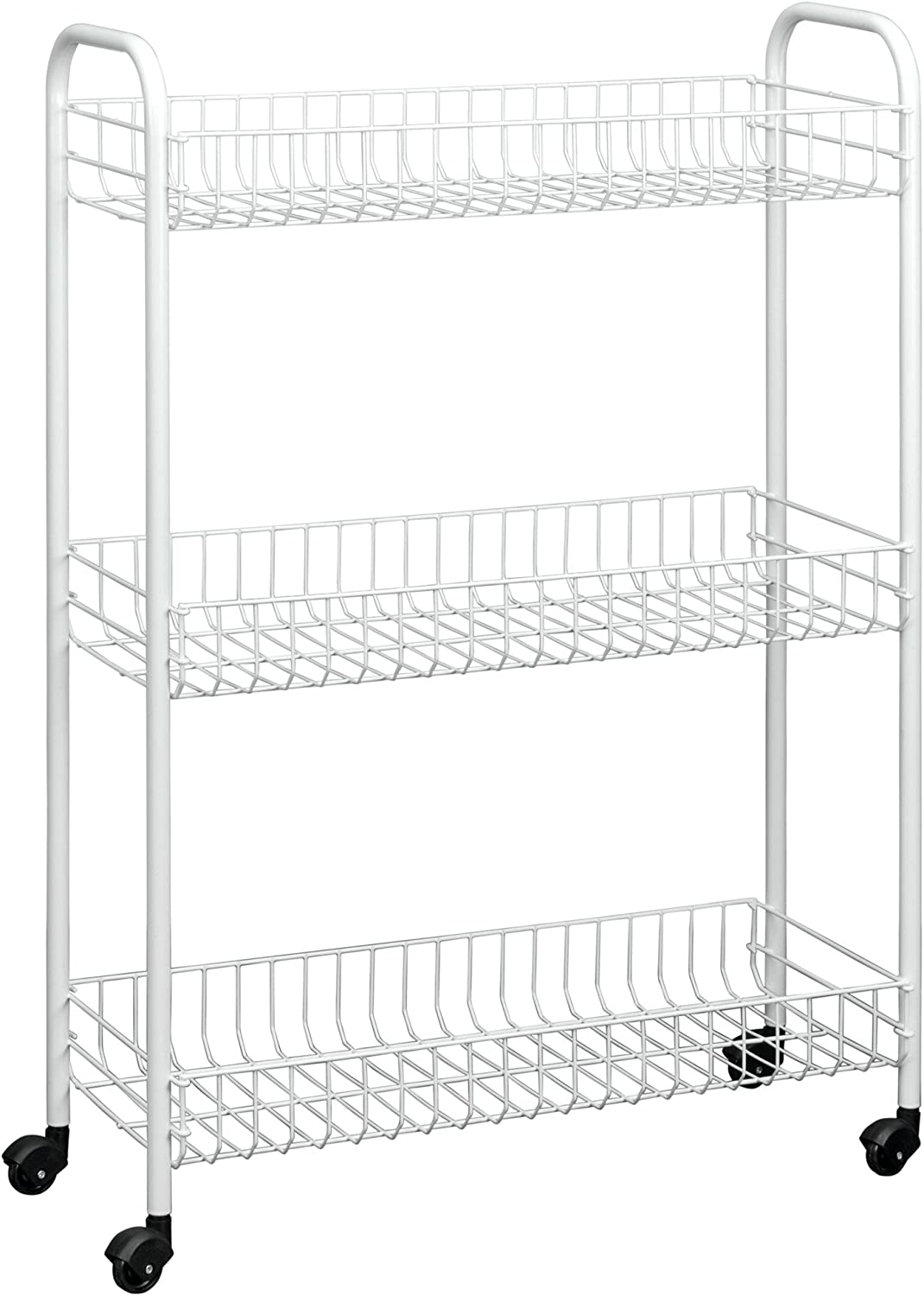 Metaltex USA Inc. Slim Rolling cart, 3 Tier, White