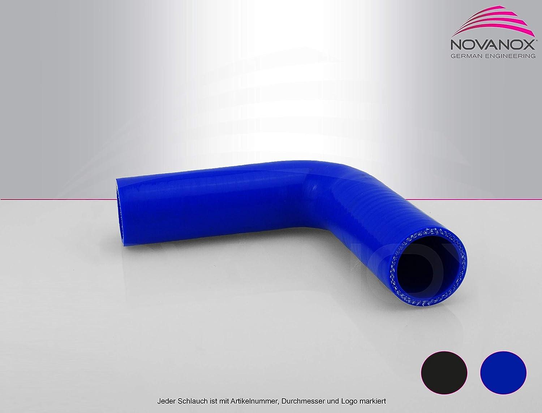 Innendurchmesser:/Ø 60 mm Gr/ö/ße w/ählbar 90/° Bogen Silikonschlauch Farbe:Blau Turbo Hose Verbinder Ladeluftschlauch flexibel Universal