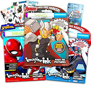 and Teenage Mutant Ninja Turtles Justice League Spider-Man Bundle of 3 Imagine Ink Magic Pictures Activity Books