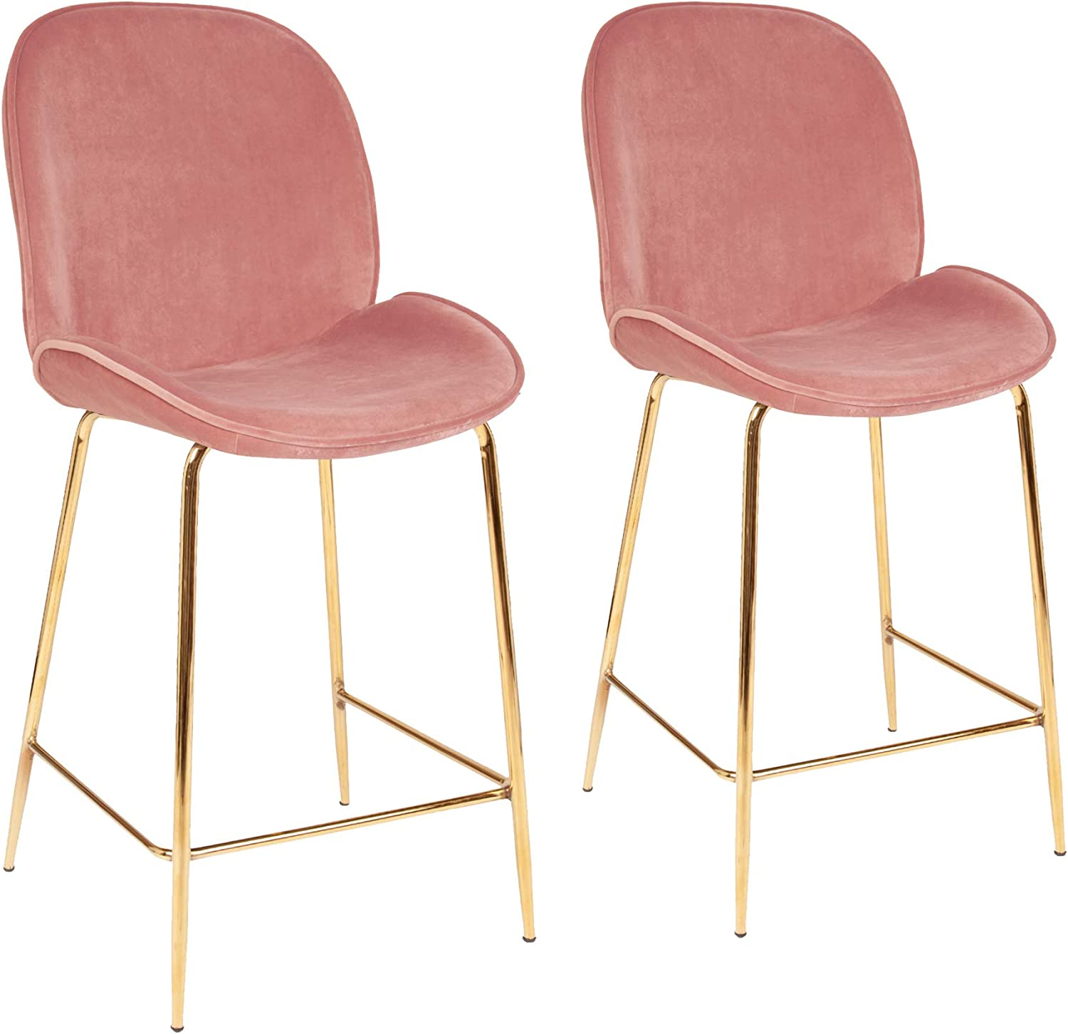 Set of 9 Pink Velvet Bar Chairs Bar Stools,Seat Height 9cm for ...