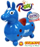 "Gymnic Rody Horse Inflatable Bounce & Ride, ""Matty's Toy Stop"" Exclusive Blue & Red (7024)"