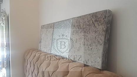 Pannello da parete in velluto decoraration glitter mamba nero