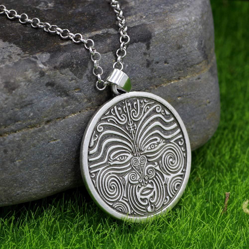CLEARNICE Collar de Hombre Tiki Tatuaje Maorí Máscara De La Cara ...