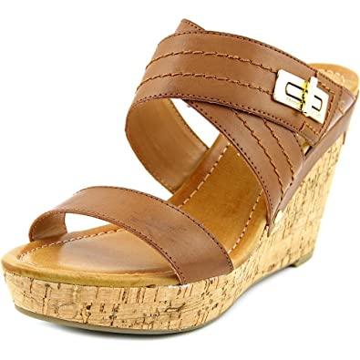 9fb2afef8 Tommy Hilfiger Mili2 Women US 9.5 Brown Wedge Sandal  Amazon.co.uk  Shoes    Bags