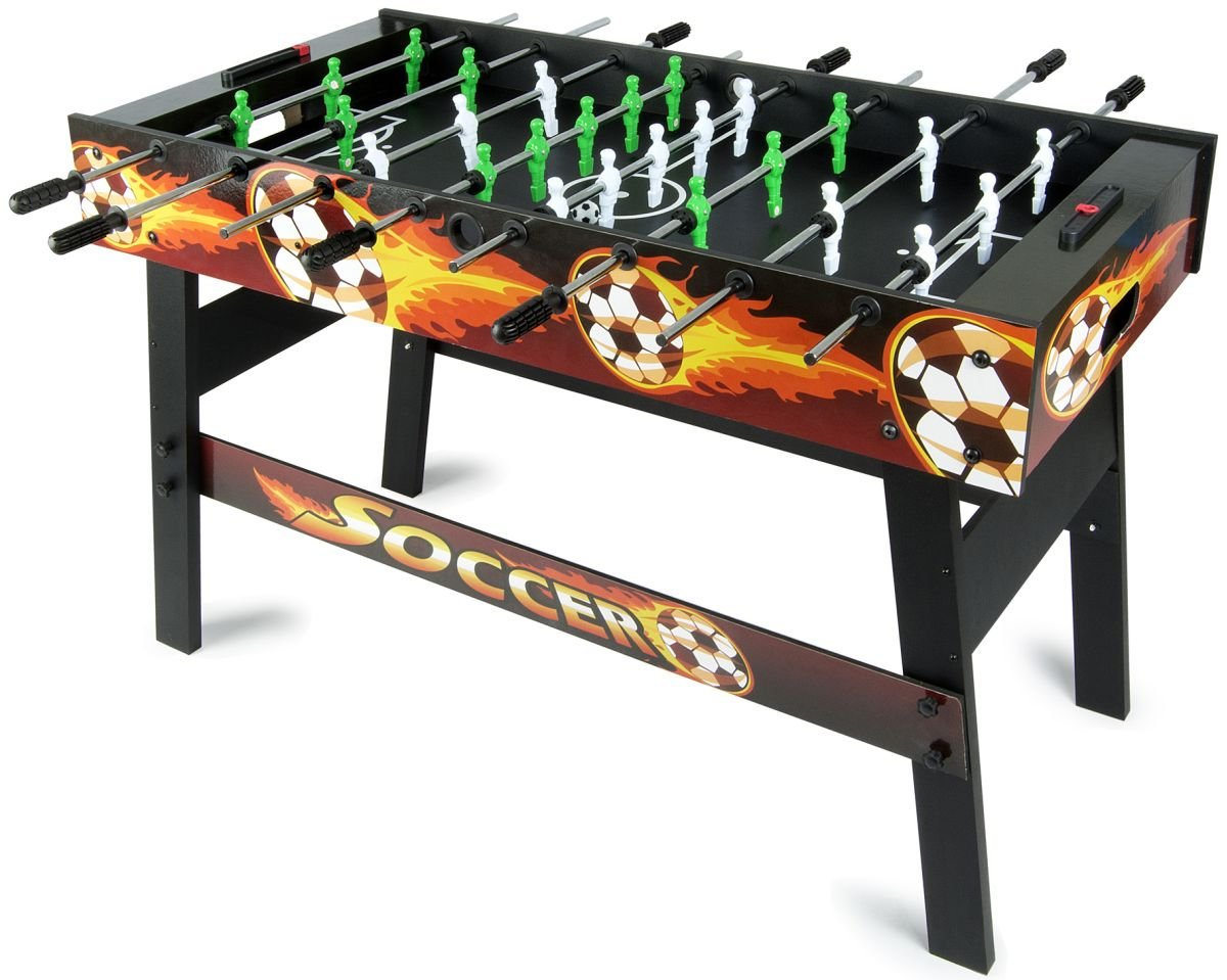 Leomark Fire Dragon Table de babyfoot Jeu de Football, Baby-Foot, Baby Foot Table En Bois Jeu de Football Enfants Adulte Jeu de Table Soccer de Voyage