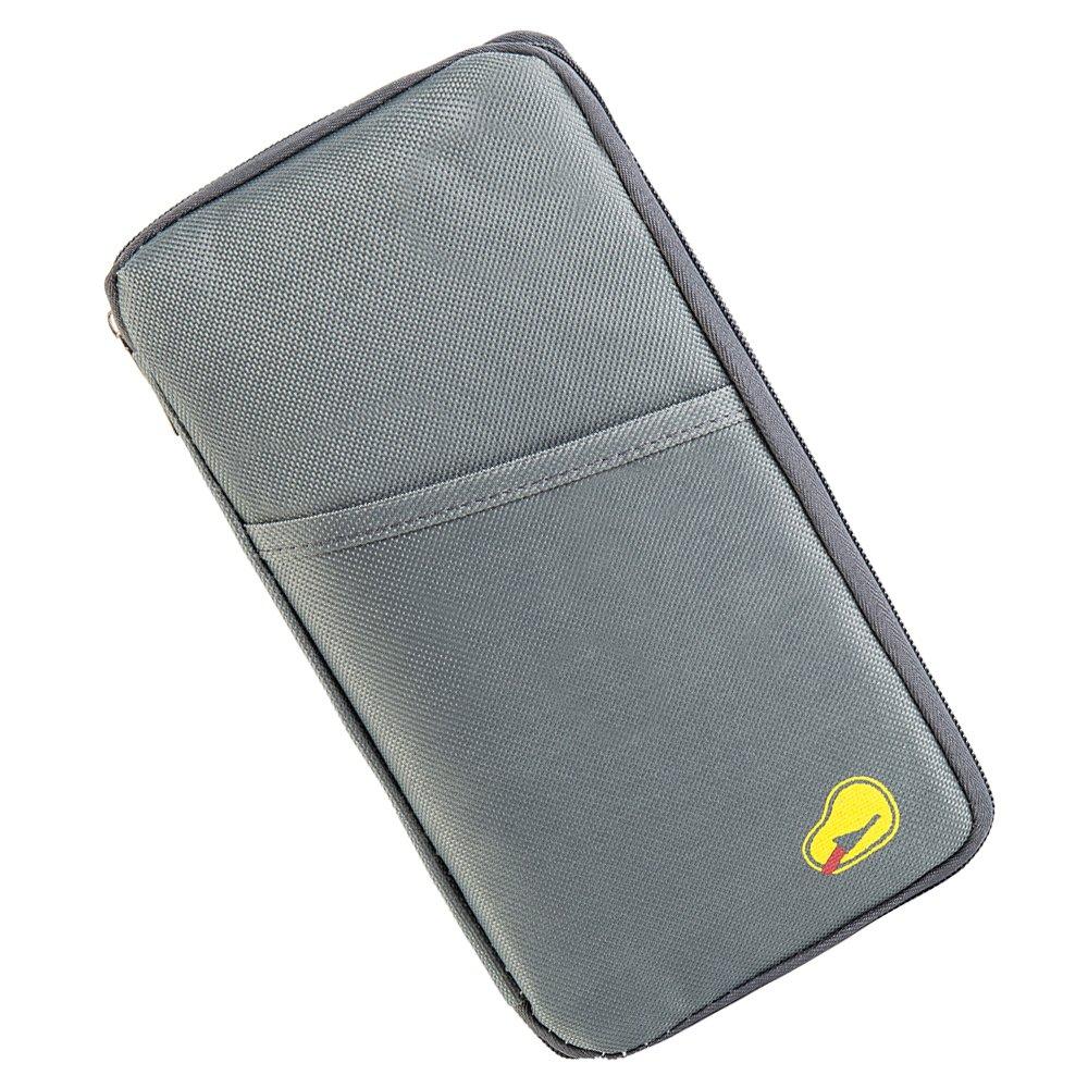 Comficent Portadocumentos de cuello para viajes Billetera de pasaporte Organizador Funda de Pasaporte de Multifuncional para tarjeta billete de dinero Armada