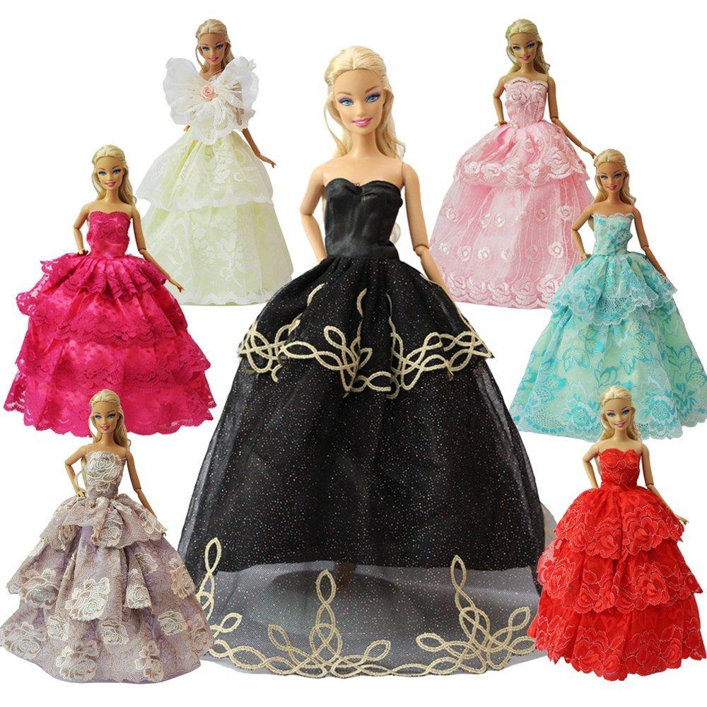 Amazon.es: ZITA ELEMENT Vestidos Barbies 15 Piezas Ropa y Accesorios - 5 Vestidos Encaje Aleatorio +5 Zapatos+3 Perchas+ 2 Bolsos de Mano de Moda para ...