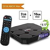 TV Box Android 7.1, [2G+16G] GooBangDoo A1 MAX 4K Full HD Smart Player TV Box Bluetooth 4.0/64 Bits/Quad Core