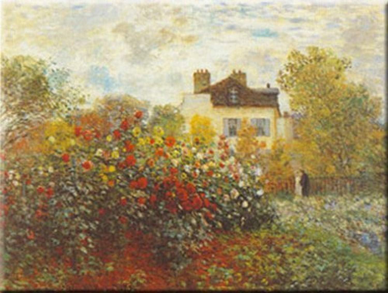Buyartforless Artist's Garden by Claude Monet 27.5x39.5 Art Print Poster