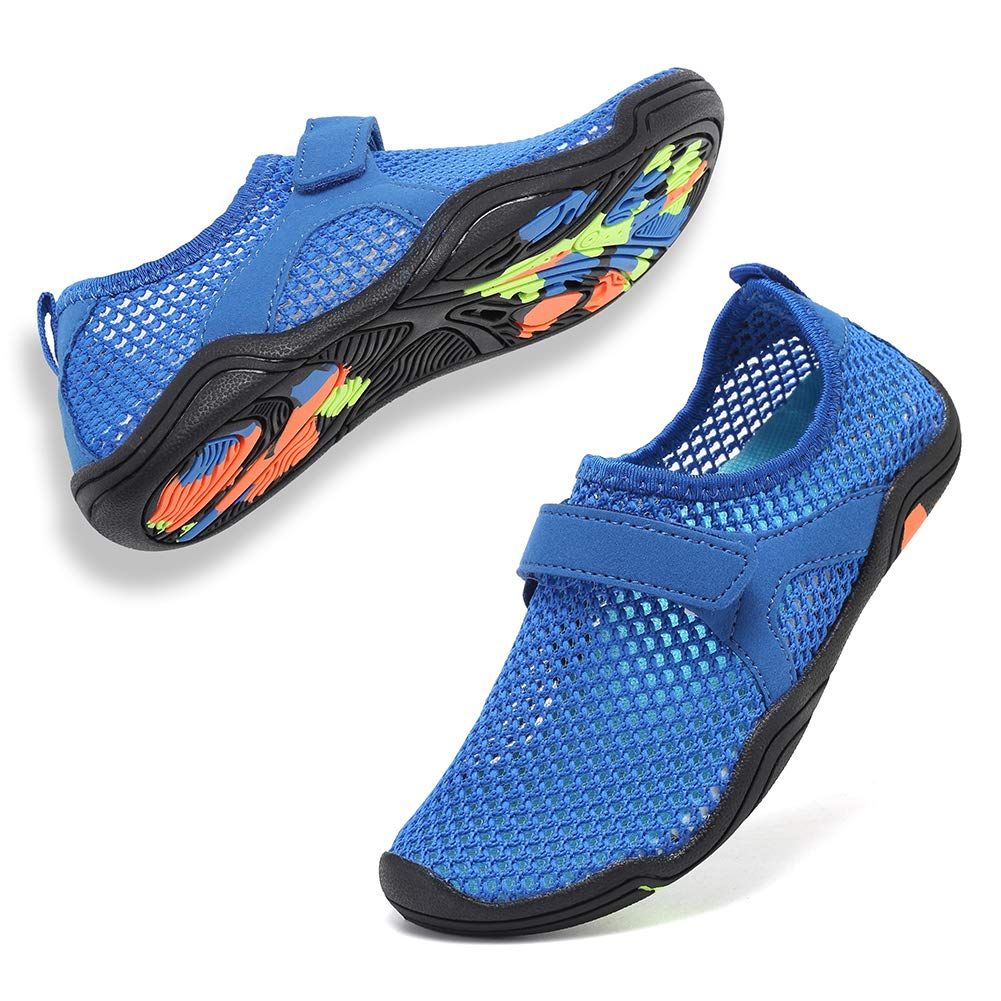 CIOR Boys & Girls Water Shoes Quick Drying Sports Aqua Athletic Sneakers Lightweight Sport Shoes(Toddler/Little Kid/Big Kid)-Deep Blue-32