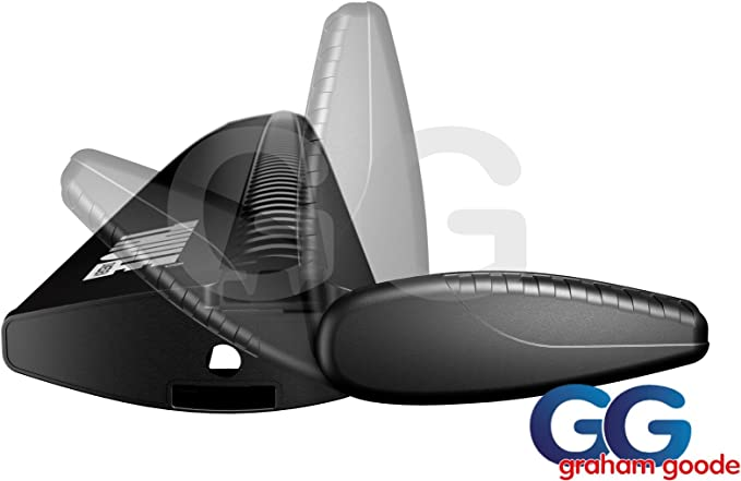 Thule 961b Aluminium Aero Black Wingbars Roof Rack Rail Bars Pair 961200 Amazon Co Uk Car Motorbike
