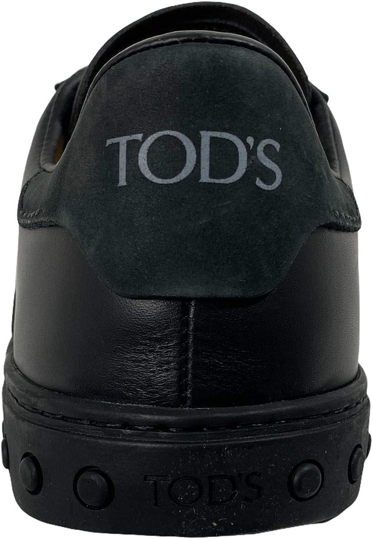 Tod's C91 Sneaker Uomo Cassetta Sportivo Black Leather Shoe Man Nero