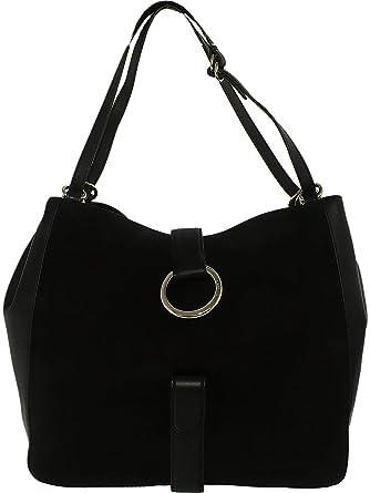 Amazon.com  MICHAEL MICHAEL KORS Quincy Large Suede Shoulder Bag ... 96cd17bb580