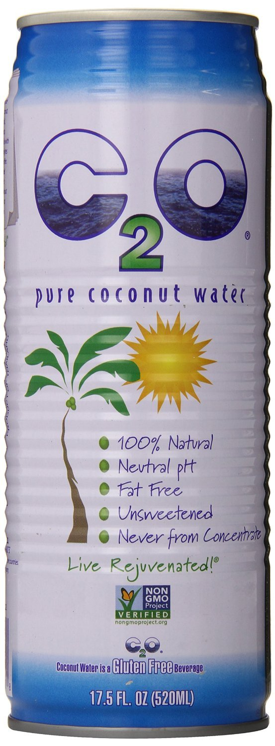 C2O Pure Coconut Water, 17.5 Ounce (Pack of 24)