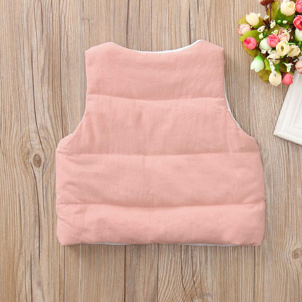 FEITONG Toddler Baby Girls Boys Sleeveless Solid Winter Warm Thick Vest Waistcoat Outwear