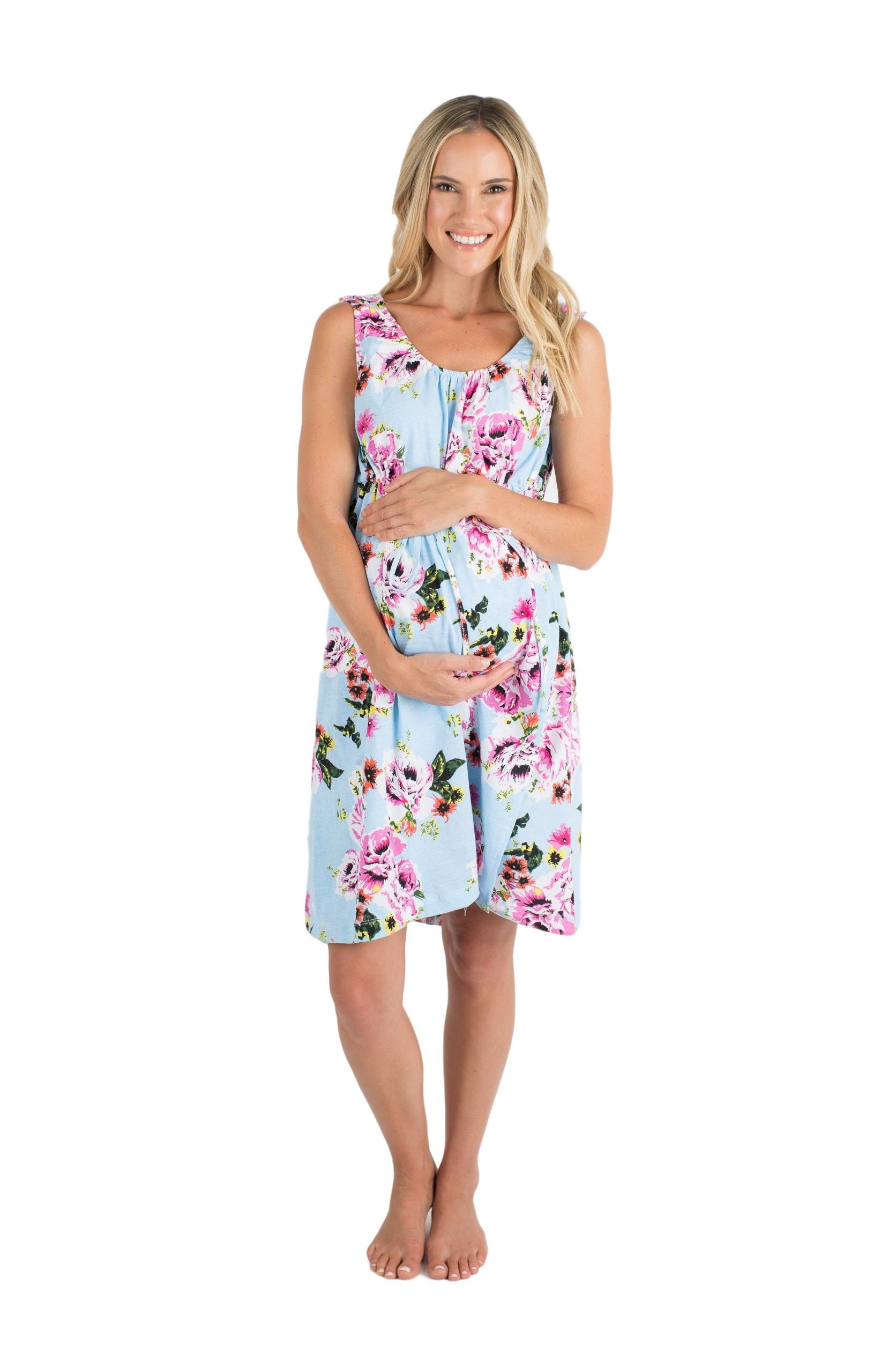 Baby Be Mine 3 in 1 Labor/Delivery / Nursing Hospital Gown Maternity,, Hospital Bag Must Have (S/M, Isla)
