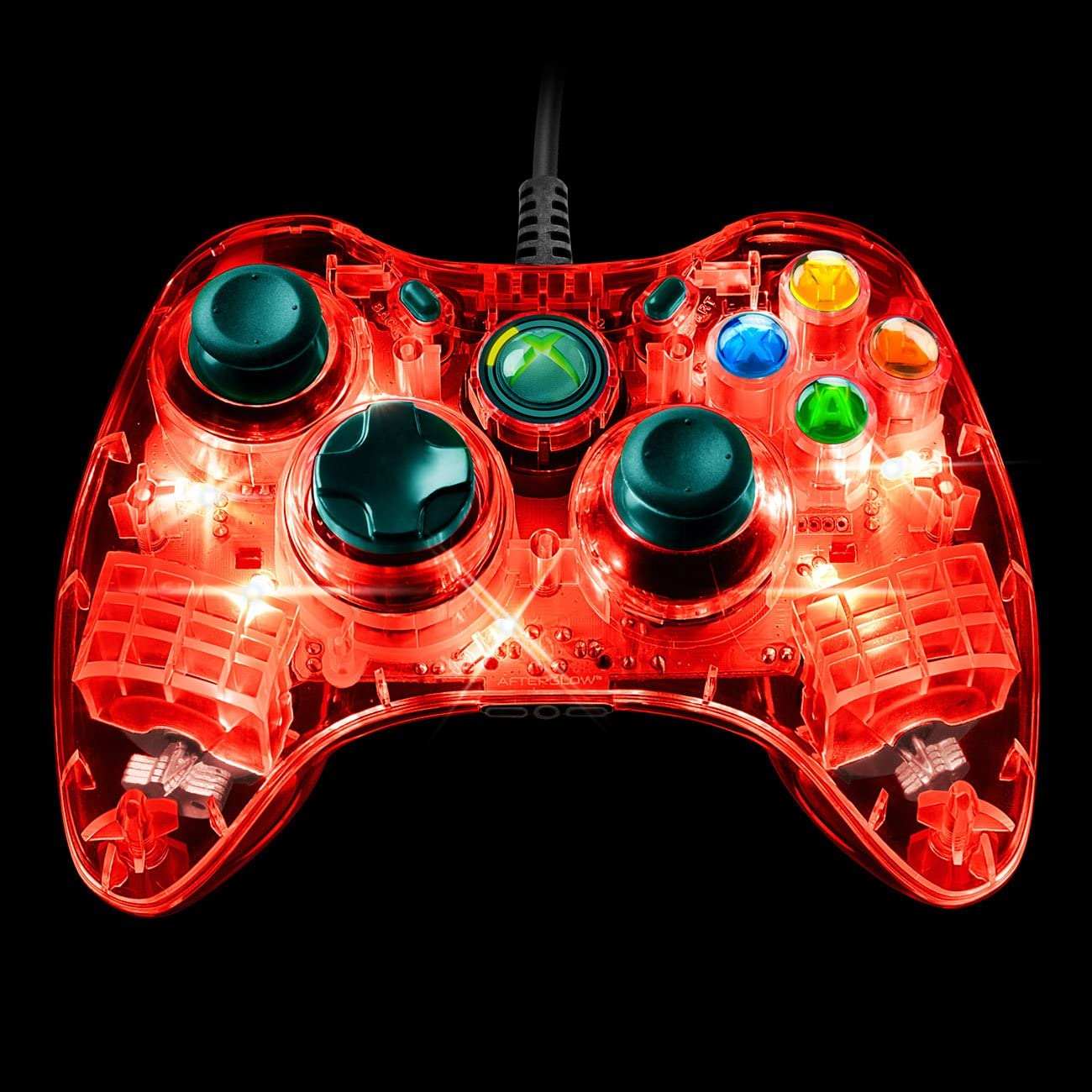 Amazon.com: Afterglow Wired Controller for Xbox 360 - Red: Video Games