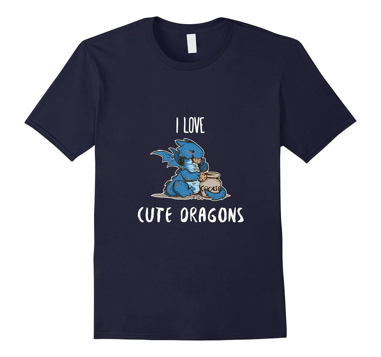 I Love Cute Dragons Tshirt | Shirt Chibi Tee Design Chinese-ANZ
