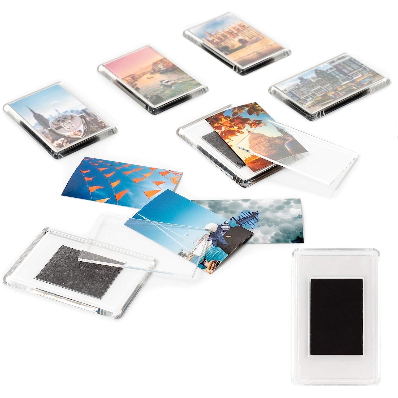 10x Premium Clear Acrylic Blank Jumbo Fridge Magnets 89 x 59 mm Ideal Gifts