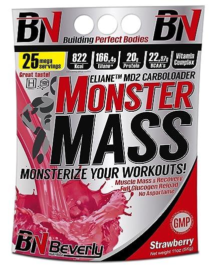 Beverly Nutrition Monster Mass Carbohidratos Sabor Fresa ...