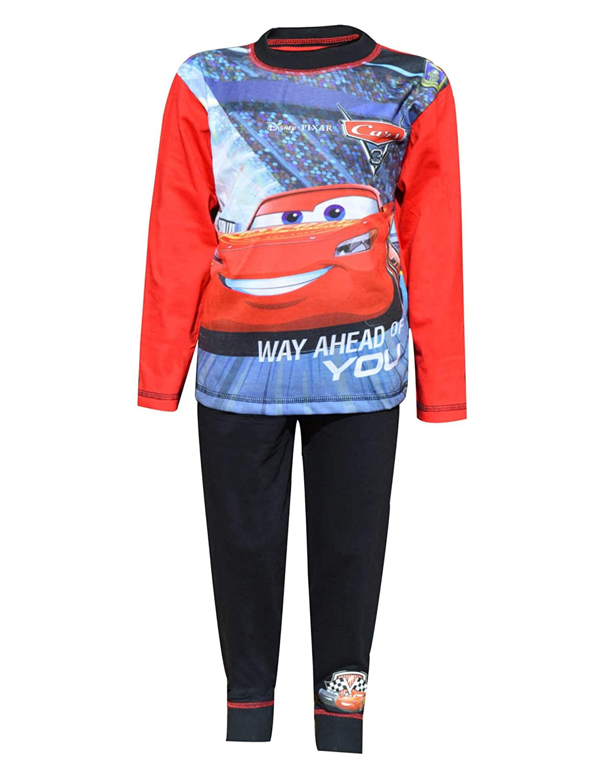 Disney Official Boys Cars 3 Long Length Snug Fit Pajamas Age 4 to 10 Years