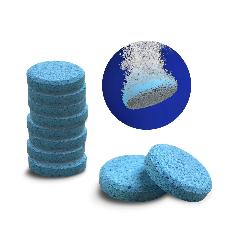 Teabelle- 5 Unidades de limpiaparabrisas de Cristal, Limpiador de Ventanas, tabletas compactas con Efecto ahuyentado, detergente Fino Concentrado sólido ...