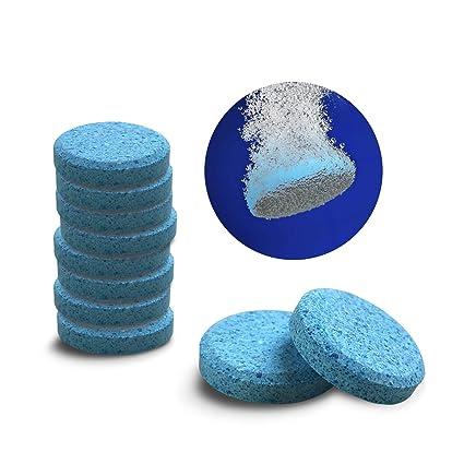 Teabelle- 5 Unidades de limpiaparabrisas de Cristal, Limpiador de Ventanas, tabletas compactas con