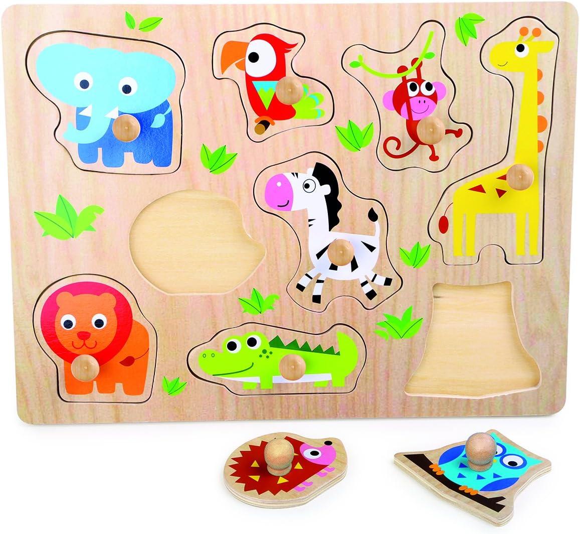 Legler - Puzzle para Encajar con diseño Animales del Zoo, de Madera (4763.0): Amazon.es: Juguetes y juegos