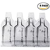 Catalpa Flower Set of 4 Reusable Box Wine with Bubble Wine Bag Protector For Transporting
