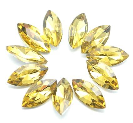 Amazon.com  Catotrem Horse Eye Shape Crystal Clear Glass Rhinestones ... 0dfbb52aead4