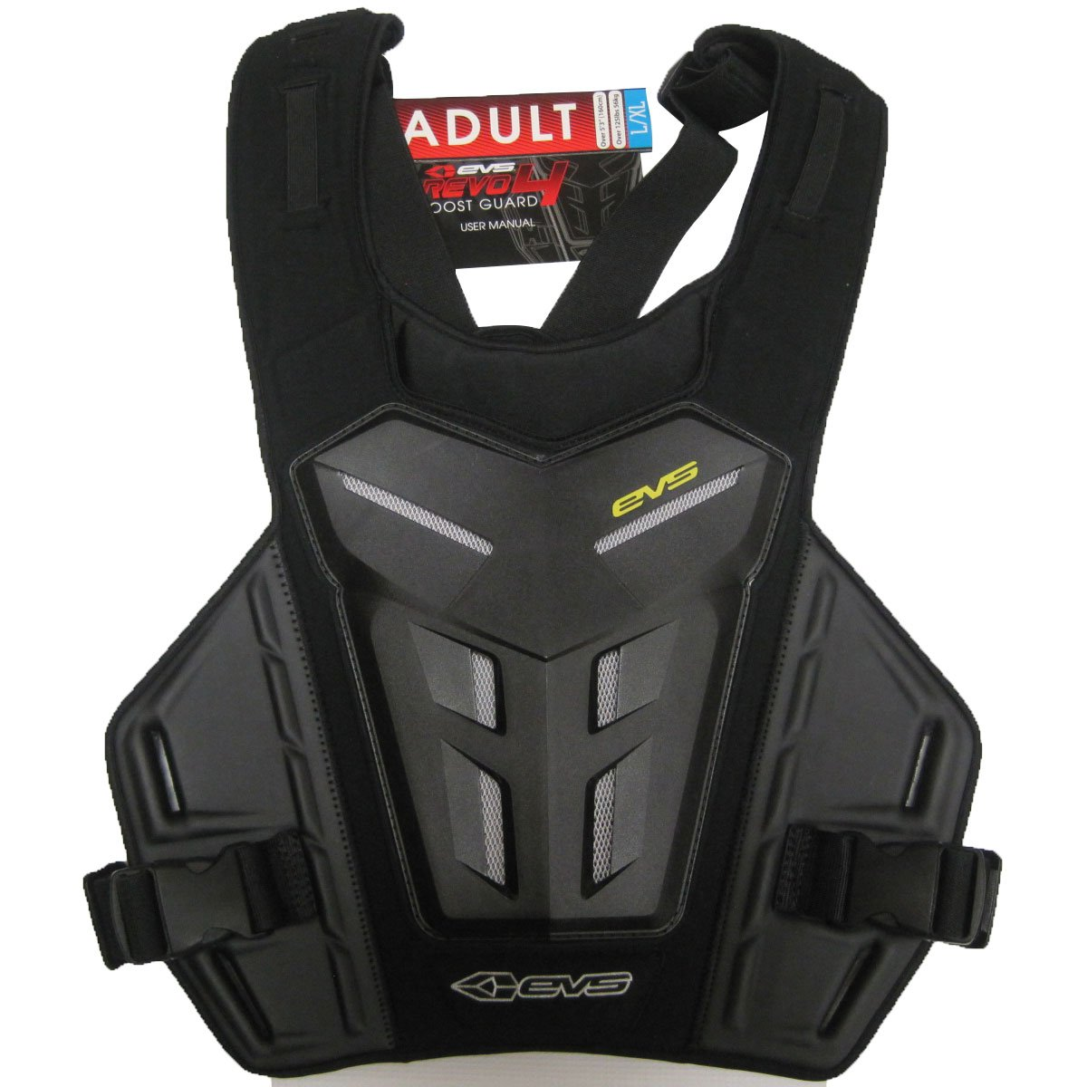 EVS Revolution 4 Adult Roost Guard Motocross/Off-Road/Dirt Bike Motorcycle Body Armor - Black/Grey / One Size