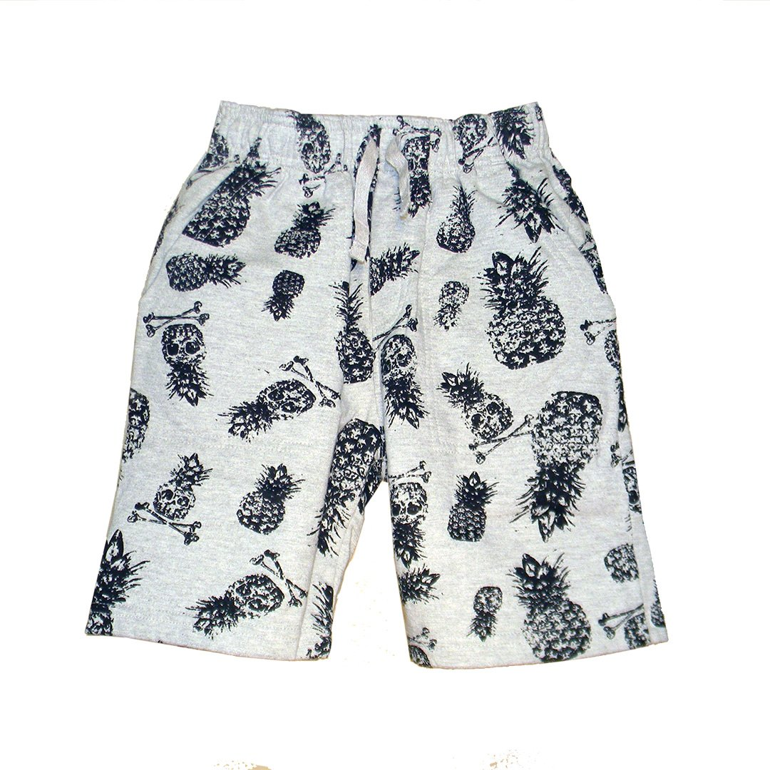 Wes and Willy Big Boys Pineapple Skull Shorts