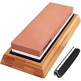 TODOCOPE Premium Whetstone, Sharpening Stone 2 Side Grit 1000/6000 Knife Sharpening Stone, Blade Knife Sharpener with Non Sli