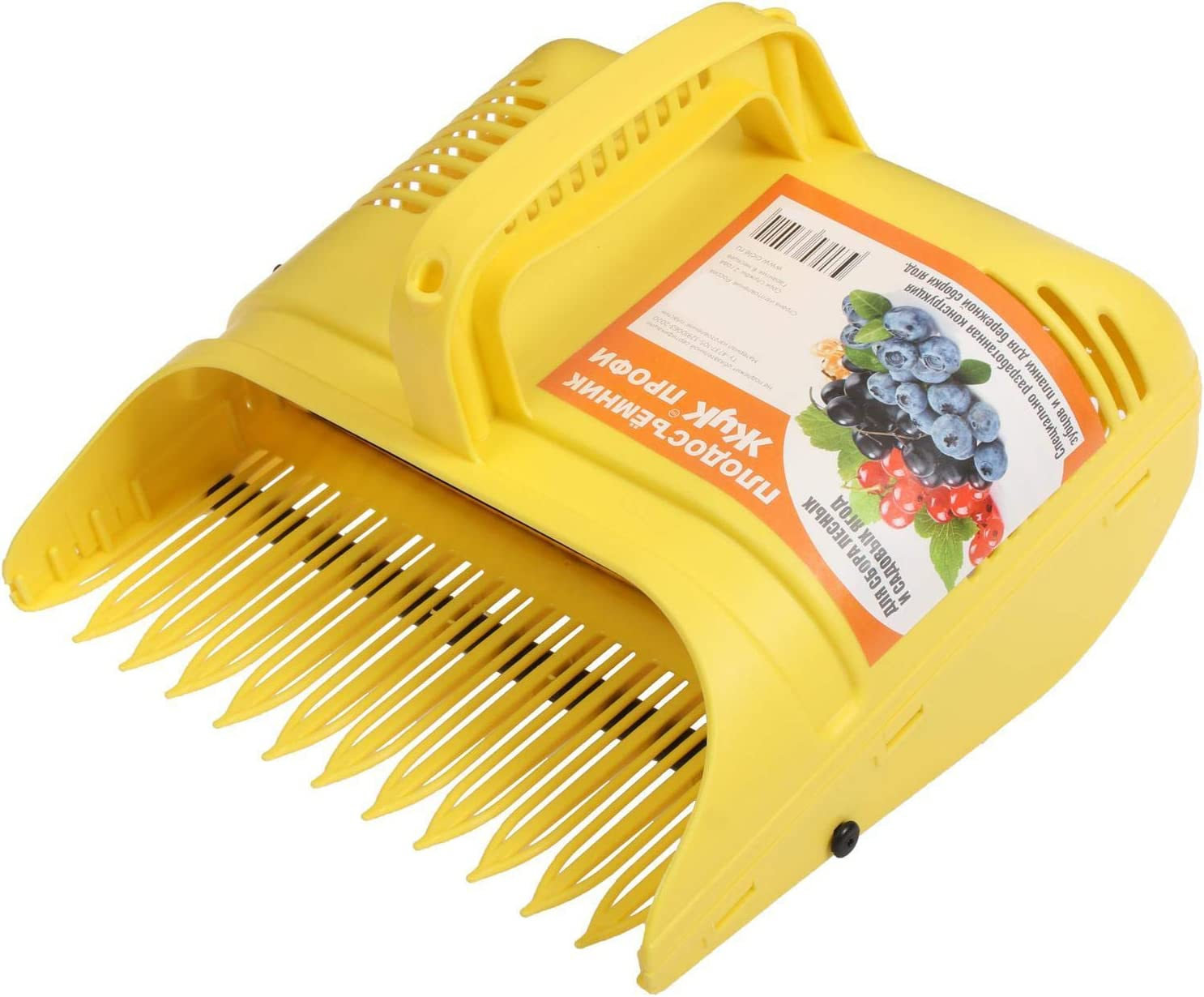 byMall Plastic Berry Pickers and rakes with Ergonomic Soft Touch Handle and Reinforced Coated Teeth for Picking Berries: Cranberries Blueberries lingonberries Strawberries Blackberries Currants