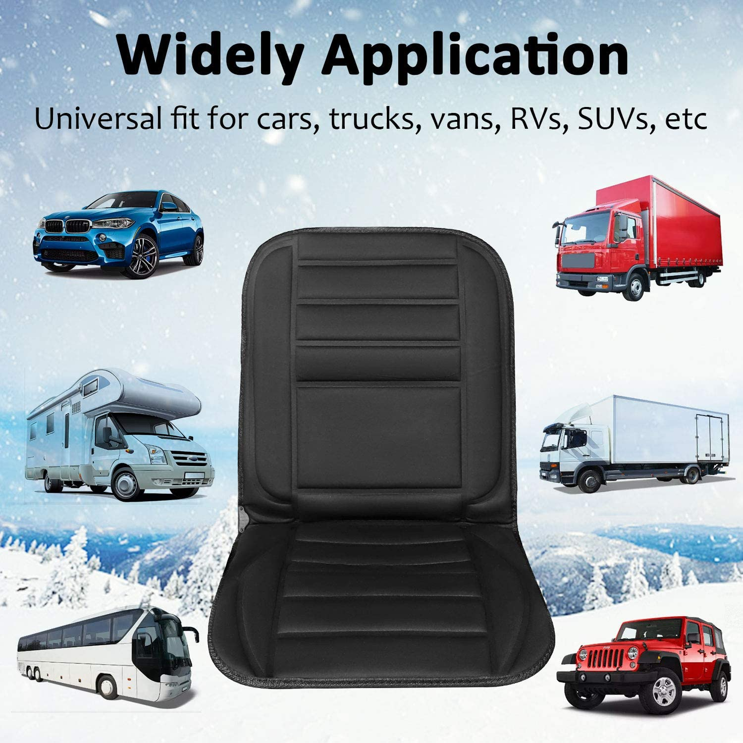 Heated Seat Cover for Car//Truck//Home//Office Chair Use Car Seat Heater Universal 12V Car Seat Fast Warming for Cold Weather Winter Driving Safer XUELI Heated Car Seat Cushion