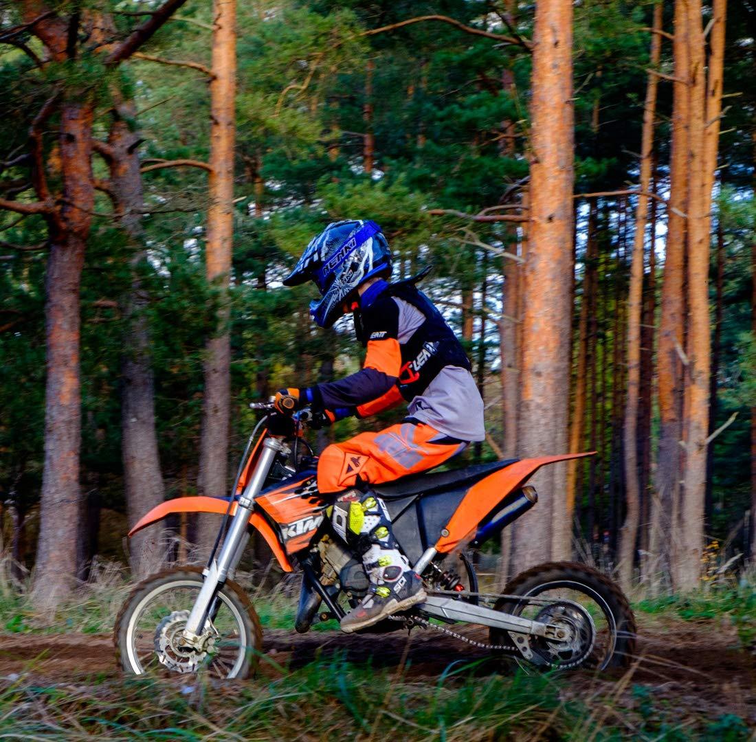 NENKI NK-303 Cascos de moto cross para ni/ños y j/óvenes Hot Pistons con certificado ECE