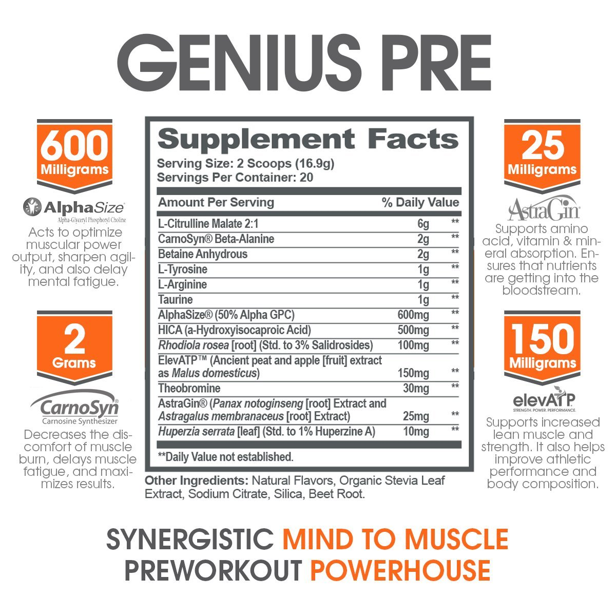 Amazoncom Genius Pre Workout All Natural Nootropic Preworkout - 20 genius solutions people came everyday problems