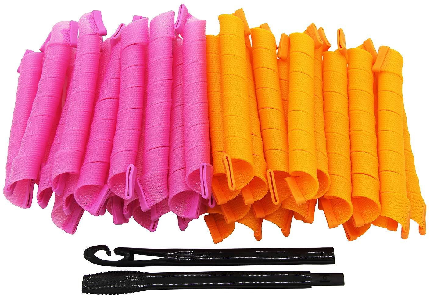 LZLRUN Super Long Spiral Curls Styling Kit - 40pcs & 45cm FFL