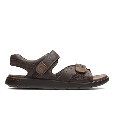eae407fa4780 Clarks Unwilmore Sun Leather Sandals In Dark Brown Standard Fit Size 13   Amazon.co.uk  Shoes   Bags