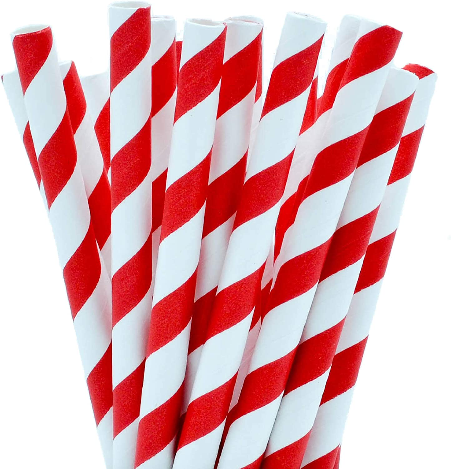 Green Red Navy Black Stripes Colorful 10mm Diameter Large Smoothies Paper Straw