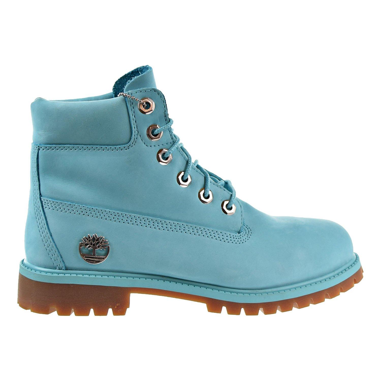 Timberland 6 Inch Big kid's Premium Boots Blue tb0a1krz (6.5 M US)