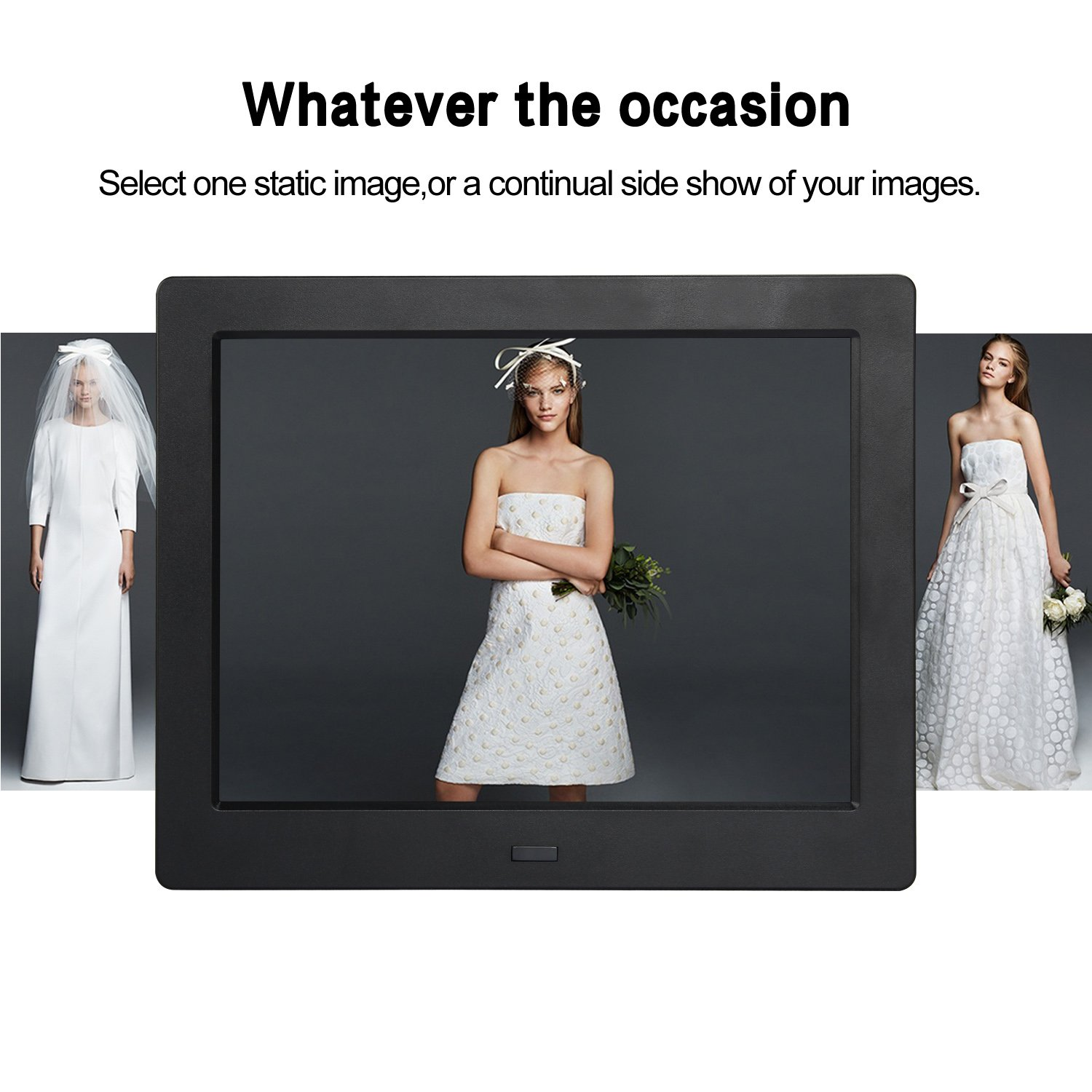Digital Picture Photo Frame 8 Inch IPS Widescreen Electronic Picture Frame High Definition(1080P) with LCD Display 1024x768,No USB/SD Included,with Wireless Remote Control(Black) by Acecharming (Image #9)