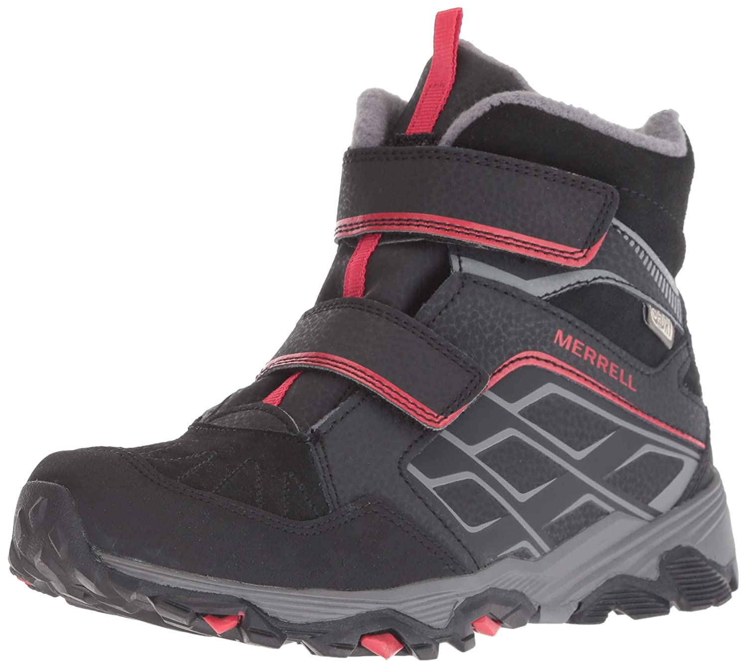 3dad35d4b6d Merrell Moab Fst Polar Mid A/C Waterproof Hiking Boot (Little Kid/Big Kid)