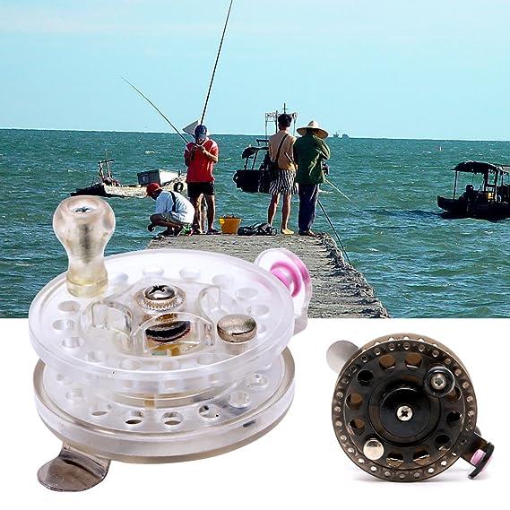 Amazon.com : OTGO Plastic Ice Fishing Reels Fly Fishing ...