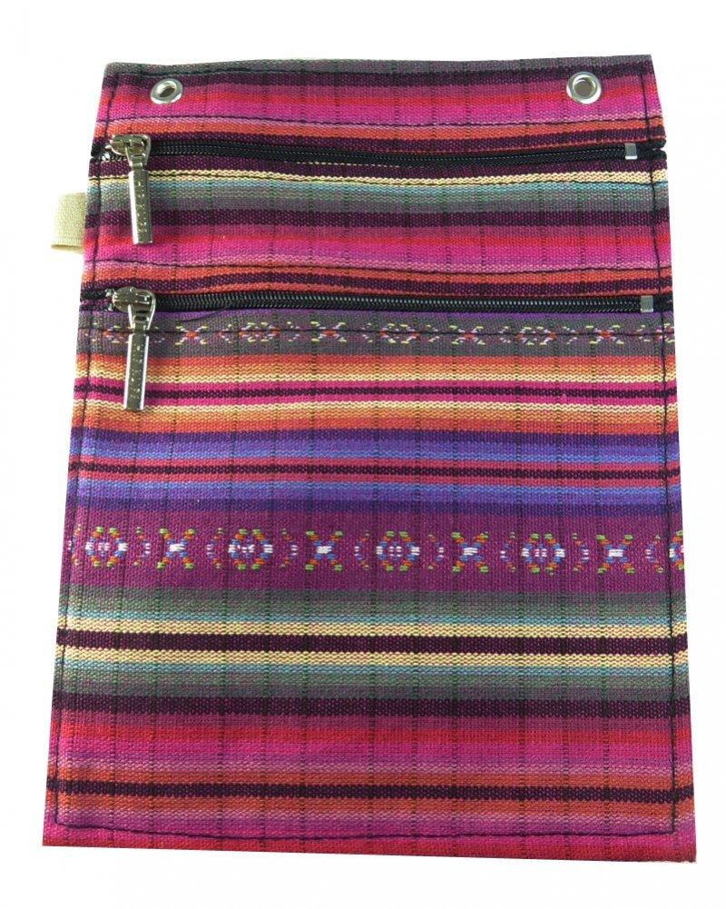 Hip Klip Double Zip - XL w/Elastic Loop - Guatemalen Purple - Cotton