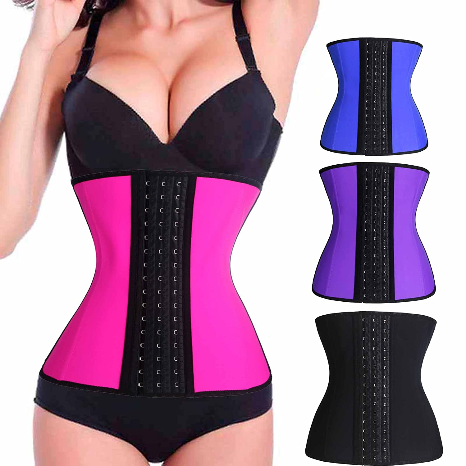 BRABIC Womens Sport Waist Trainer Latex Corset Weight Loss Rubber Long Torso