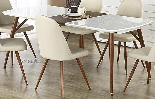 CARELLIA Conjunto Mesa a Comedor Rectangular Extensible + 4 sillas ...