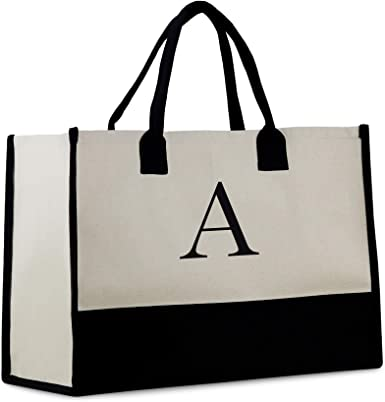 Typography tote bag letters tote bag black and white tote bag typography bag typography tote bag canvas tote bag gift for her shopping bag